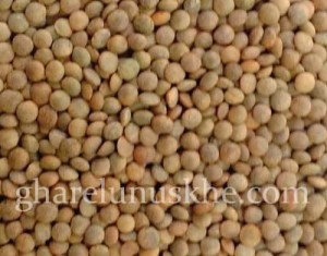 Brown Lentils, Brown Masoor Dal, Brown Masur Daal