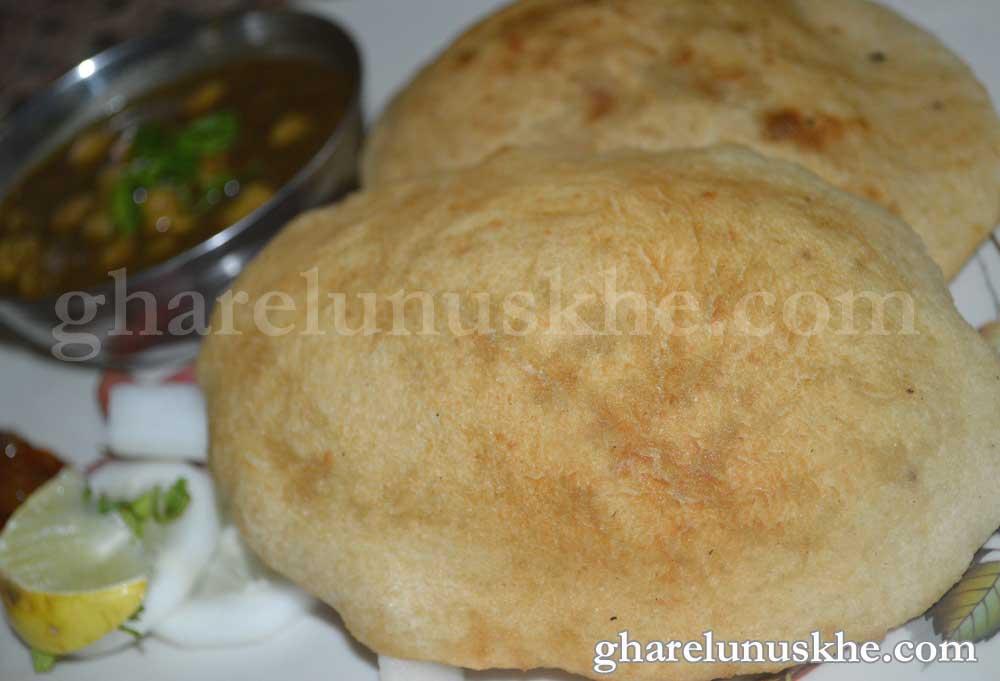 Cake Ki Recipe Kadai Mein: Bhature Recipe - भटूरा रेसिपी