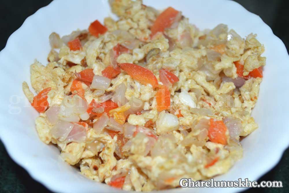 egg bhurji, ande ki bhurji, अंडे की भुर्जी