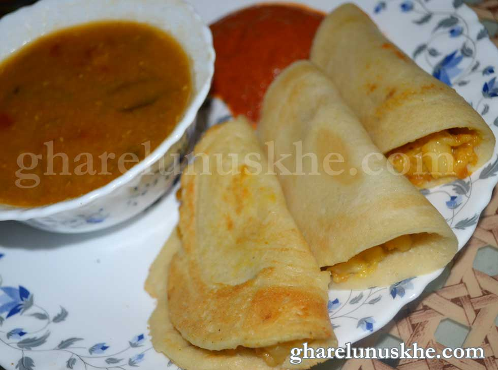 Masala Dosa Recipe in Hindi - मसाला डोसा | Hindi Recipe
