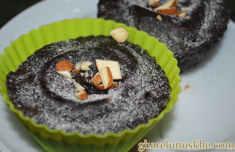 Cake Ki Recipe Kadai Mein: Eggless Chocolate Cupcake Recipe