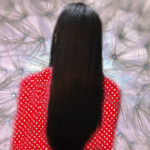 hair straightening, seedhe baal, straight hair image